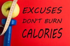 Calories de brûlure du ` t de Don d'excuses photographie stock