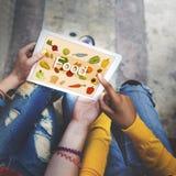 Calories de nourriture dinant le boire mangeant le concept de nutrition Photographie stock libre de droits