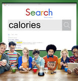 Calories Diet Food Health Nutrition Concept Stock Images