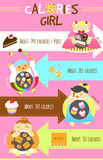 Calories girls Royalty Free Stock Photos