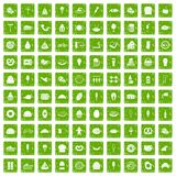 100 calories icons set grunge green. 100 calories icons set in grunge style green color isolated on white background vector illustration royalty free illustration