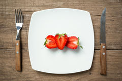 Calories in strawberry Royalty Free Stock Images
