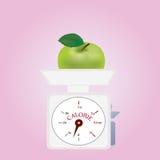 Caloriesaldo met Groen Apple Royalty-vrije Stock Foto