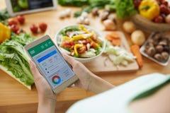 Calorieteller stock foto