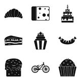 Calory icons set, simple style. Calory icons set. Simple set of 9 calory vector icons for web isolated on white background Stock Image