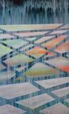 Calotes polares de derretimento, pintura linear abstrata fotos de stock