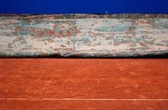 Calotta di protezione della corte di tennis immagine stock
