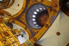 Calotte della cattedrale ortodossa orientale Fotografia Stock