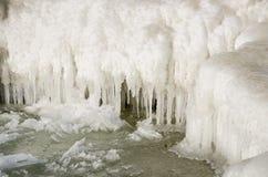 Calotte glaciaire commençant à fondre et s'égoutter Photographie stock libre de droits