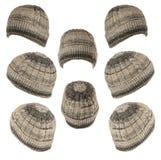 Calotte tricotée d'isolement sur le fond blanc Image stock