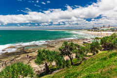 CALOUNDRA, AUS - DEC 06 2015: Hot sunny day at Kings Beach Calun Royalty Free Stock Photos