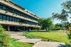 Calouste Gulbenkian Museum is a Portuguese museum in Lisbon and accommodates ancient and modern art. LISBON, PORTUGAL - AUGUST 15, 2017: Calouste Gulbenkian royalty free stock images