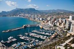 Calp Penial difach, Valencia y Murcia, Spanje Royalty-vrije Stock Foto's