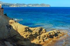 Calp summer coast, Spain. Stock Image