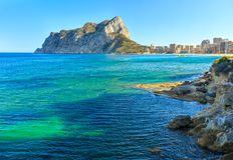 Calp summer coast, Spain. Royalty Free Stock Image