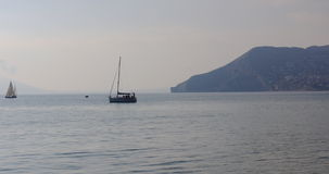 Calpe άποψη θάλασσας σχετικά με benidorm 4k απόθεμα βίντεο