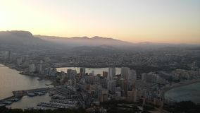 Calpe πόλη τη μεγάλη ημέρα στοκ εικόνες