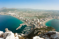 Calpe aerial view Stock Photo