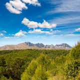 Calpe Alicante sierra de Bernia y Ferrer mountains Royalty Free Stock Photography
