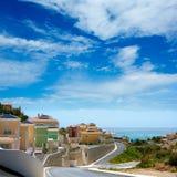 Calpe in Alicante Spain at Valencian Community. At Mediterranean sea shore Stock Image
