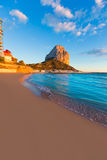 Calpe Alicante sunset at beach Cantal Roig Royalty Free Stock Photos