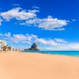 Calpe Arenal Bol playa παραλία Αλικάντε Στοκ Εικόνα