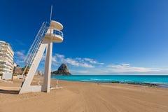 Calpe Arenal Bol playa παραλία Αλικάντε Στοκ Φωτογραφίες