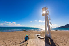 Calpe Arenal Bol playa παραλία Αλικάντε Στοκ φωτογραφίες με δικαίωμα ελεύθερης χρήσης