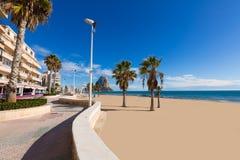 Calpe Arenal Bol playa παραλία Αλικάντε Στοκ Εικόνες