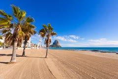 Calpe Arenal Bol playa παραλία Αλικάντε Στοκ Φωτογραφία