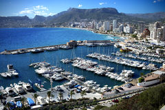 Calpe Bay. Espana costa del sol royalty free stock photos