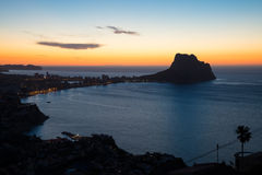Calpe bay Stock Photo