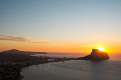 Calpe bay Royalty Free Stock Images
