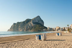 Calpe beach Royalty Free Stock Photo