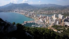 Calpe city Stock Image