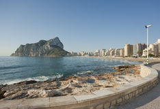 Calpe coast promenade Stock Images