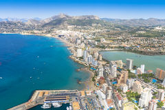 Calpe coastline. Alicante, Spain. Royalty Free Stock Photography