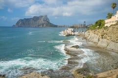 Calpe coastline Royalty Free Stock Images