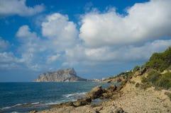 Calpe coastline scenic Royalty Free Stock Photos