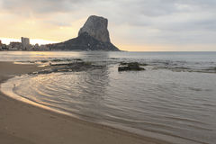 Calpe at dawn Royalty Free Stock Photography