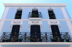 Calpe. Mediterranean Spanish coastal city historic old town cent Stock Photo