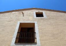 Calpe. Mediterranean Spanish coastal city historic old town center Stock Images