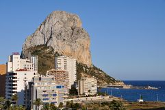 Calpe and the Penon de Ifach Royalty Free Stock Photo