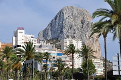 Calpe and the Penon de Ifach Stock Photography