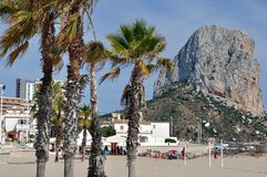 Calpe and the Penon de Ifach Royalty Free Stock Photos