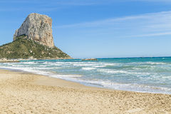 Penon de Ifach - Calp. Calpe, penon de ifach under the sun stock photos
