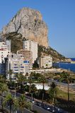 Calpe and the Penon de Ifach (Vertical) Royalty Free Stock Photos