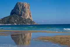 Calpe with Penon de ifah Stock Images
