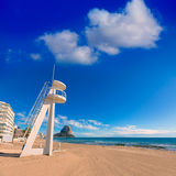 Calpe playa Arenal Bol beach  Alicante Royalty Free Stock Photo