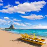 Calpe playa Arenal Bol beach  Alicante Royalty Free Stock Photos